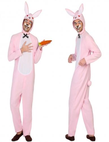 Hasen-Herrenkostüm Bunny rosa-weiss