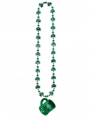 St. Patrick's Day Halskette mit Bierkrug grün