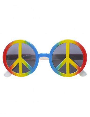 70er Peace Brille Hippie bunt