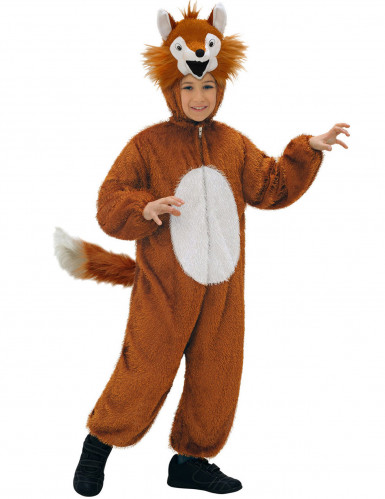 Fuchs-Kinderkostüm braun-weiß