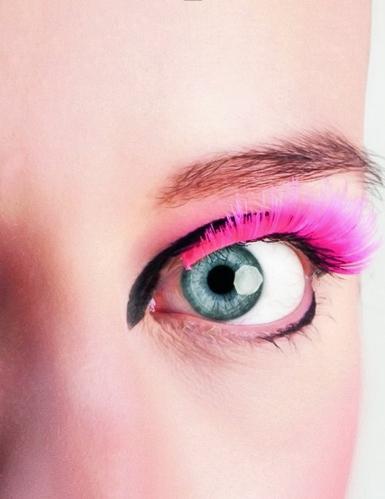 Künstliche Wimpern Fakewimpern neonpink