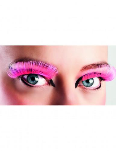Gebogene Wimpern Kunstwimpern pink