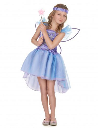 Feen-Kinderkostüm Kleine Elfe lila-blau
