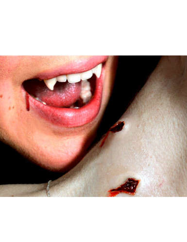 Vampirbiss Halloween-Tattoo haut-rot