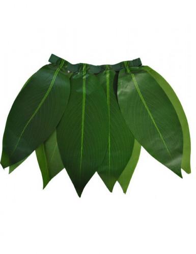Hawaii Blätter-Rock für Kinder grün
