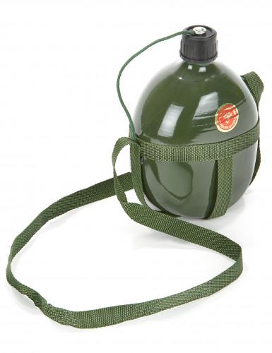 Feldflasche Soldaten Kostümzubehör Militär grün