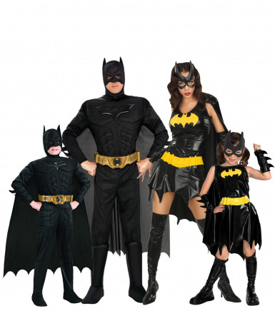batman familienkost m gruppenkost m karneval schwarz gelb g nstige faschings kost me bei. Black Bedroom Furniture Sets. Home Design Ideas