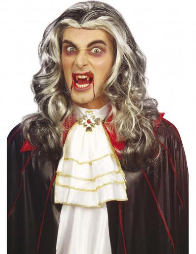Vampir Perücke schwarz-grau