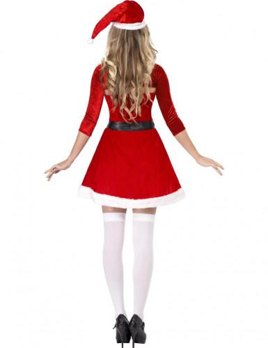 Sexy Weihnachtsfrau Damenkostüm rot-weiss-schwarz-1