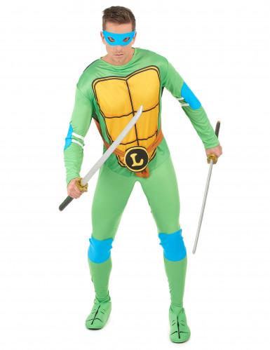 Teenage Mutant Ninja Turtles Leonardo Kostüm Lizenzartikel grün-gelb