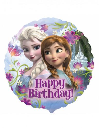 Happy Birthday Aluminium Luftballon Die Eiskönigin Lizenzartikel bunt