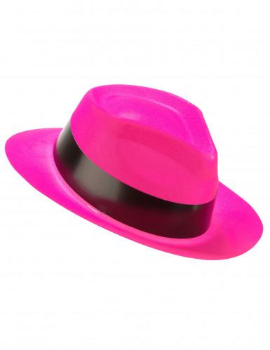 Disco Partyhut für Erwachsene neonpink