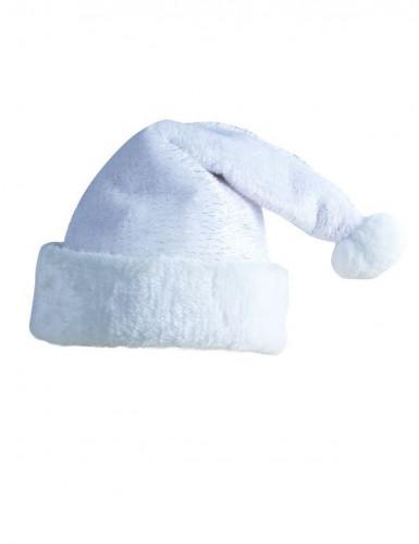 Weihnachtsmann-Mütze Erwachsene weiß