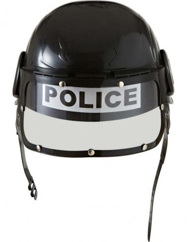 Swat Polizisten Helm für Kinder schwarz-weiss-2