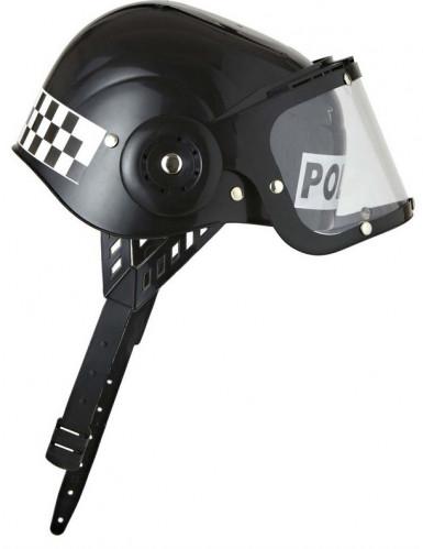 Swat Polizisten Helm für Kinder schwarz-weiss-1