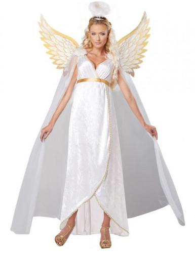 Verführerischer Engel Damenkostüm weiss-gold