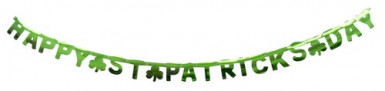 Girlande Happy St. Patrick's Day Kleeblatt grün