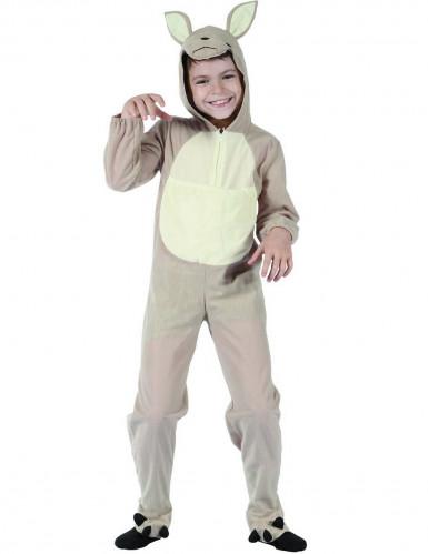 Känguru-Kinderkostüm Tierkostüm grau