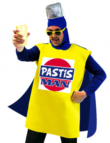 Pastis Man Getränke-Kostüm gelb-blau