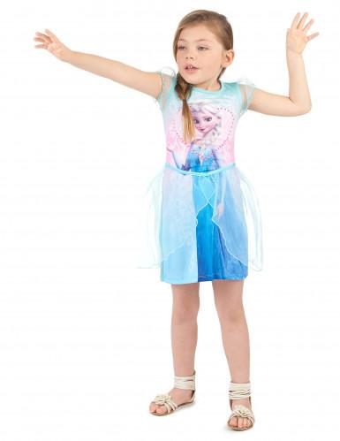 Elsa-Kleid für Mädchen Die Eiskönigin Kinderkostüm Lizenzkostüm blau ...