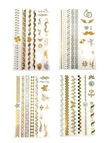 Metallic Tattoos gold-silber