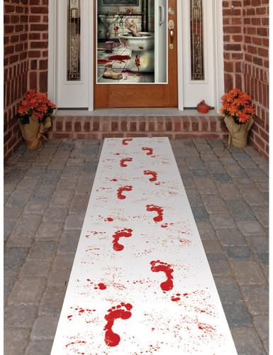 blutige f sse l ufer halloween party deko weiss rot. Black Bedroom Furniture Sets. Home Design Ideas