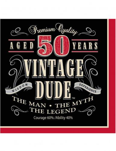 Servietten 50. Geburtstag für Herren