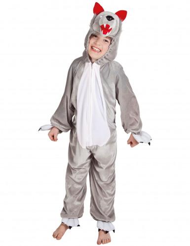 Wolfskostüm Tierreich für Kinder grau-weiß