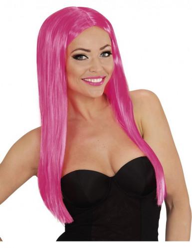 Glamouröse Damenperücke rosa