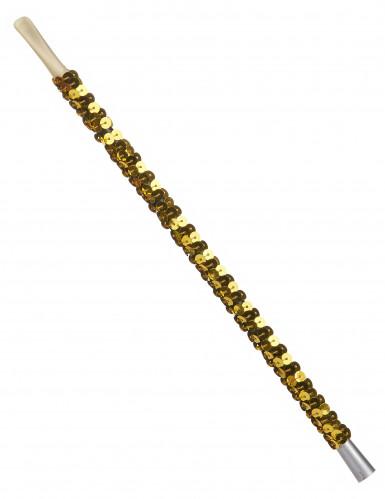 Zigarettenhalter mit Pailletten gold