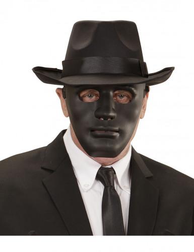 Phantom Karneval-Maske Anonymous schwarz
