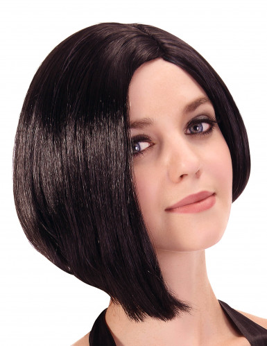 Bob-Frisur Damenperücke schwarz