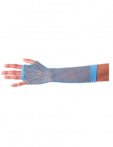Lange Netzhandschuhe blau