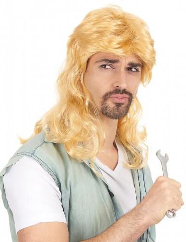 Retro Vokuhila Herren-Perücke blond