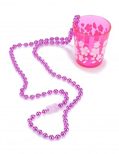 Schnapsglas zum Umhängen JGA-Party pink-weiss 6cm