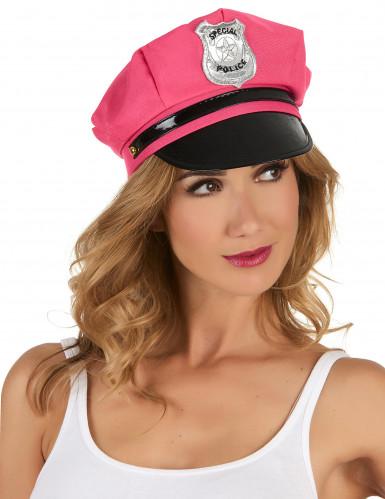 Polizeimütze Kostüm-Accessoire Junggesellinnenabschied pink