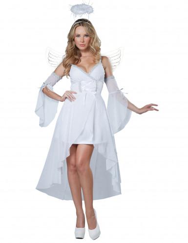 Himmlischer Engel Damenkostüm Weihnachten weiss