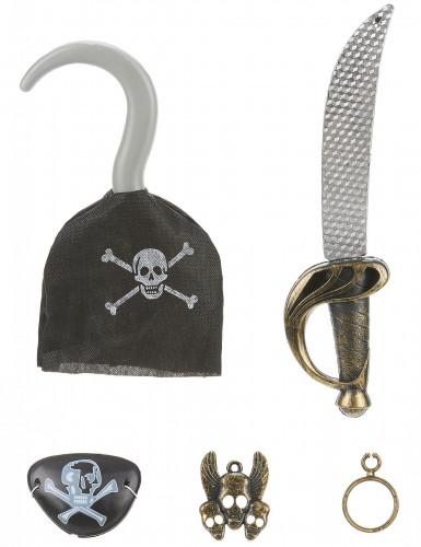 Piraten-Set für Kinder 5-teilig bunt