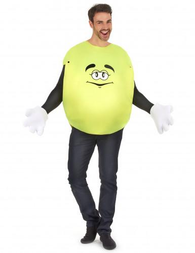Gelbes Bonbon Unisex Kostüm gelb-weiss
