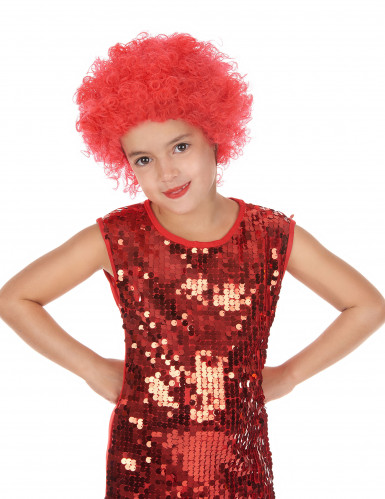 Lockenperücke für Kinder Fasching rot