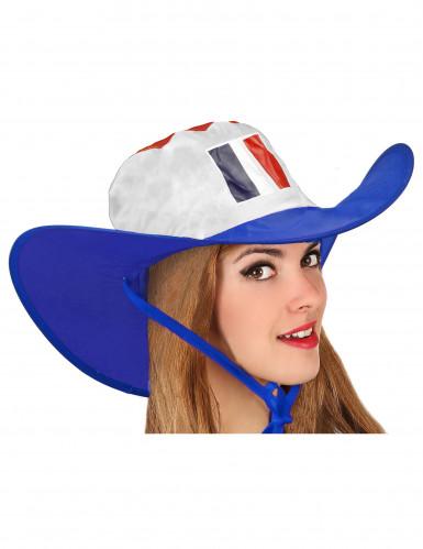 Cowboy-Hut Frankreich Fanartikel blau-weiß-rot 60 cm Kopfumfang