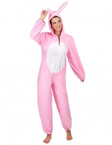 Süsser Hase Damenkostüm Kaninchen rosa-weiss