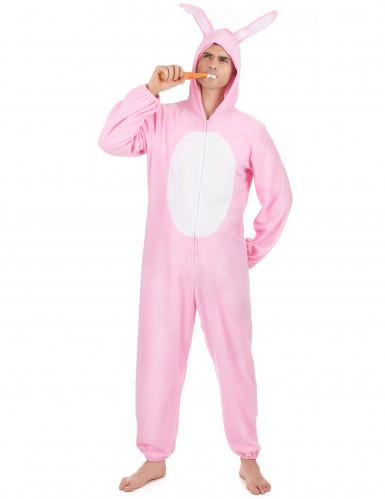 Lustiger Hase Kostüm Kaninchen rosa-weiss