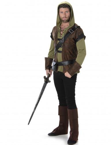Mittelalter Bogenschütze Kostüm braun-grün
