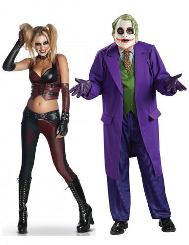 Harley Quinn & Joker Kostüm-Set für Paare bunt