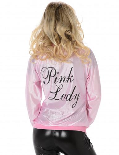 50er-Damenjacke rosa-schwarz