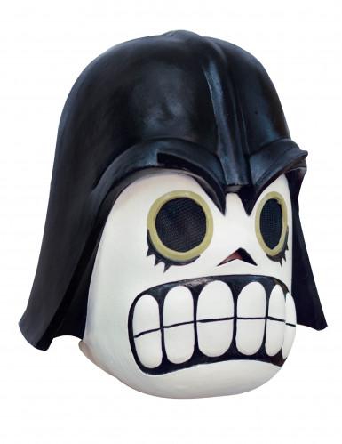 Tag der Toten Dunkler Krieger-Maske Calaveritas weiss-schwarz