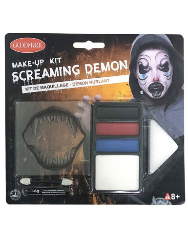 Horror-Clown Make-up Dämon Halloween bunt