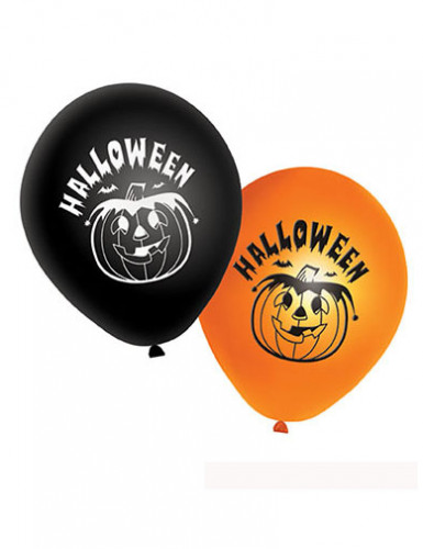 halloween luftballons k rbis partyballons 20 st ck schwarz orange weiss 27cm g nstige. Black Bedroom Furniture Sets. Home Design Ideas
