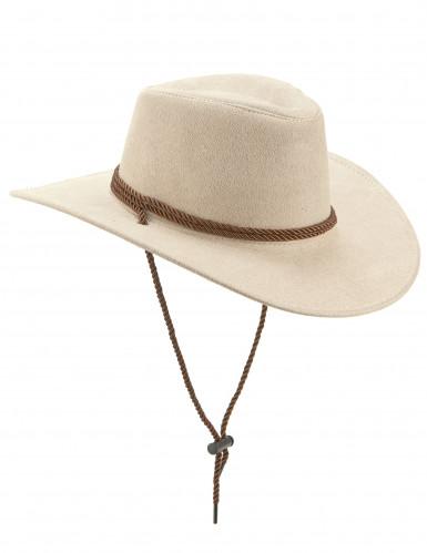 Cowboy Hut für Erwachsene mit Band braun